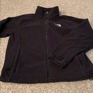 North Face full zip flannel jacket, medium black